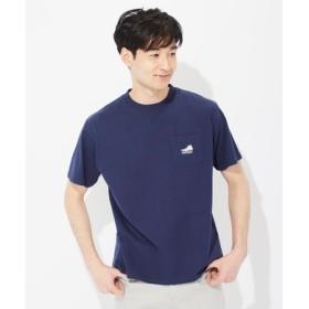 CONVERSE ロゴデザインTシャツ メンズ ネイビー