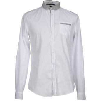 《9/20まで! 限定セール開催中》ARMANI JEANS メンズ シャツ ホワイト XL コットン 97% / ポリウレタン 3%