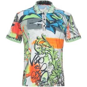 《期間限定 セール開催中》VERSACE COLLECTION メンズ ポロシャツ オレンジ M レーヨン 50% / コットン 50%