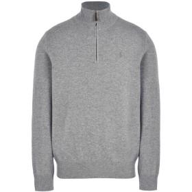 《送料無料》POLO RALPH LAUREN メンズ タートルネック グレー S ウール 100% Loryelle Wool Half Zip Sweater