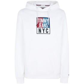 《期間限定 セール開催中》TOMMY JEANS メンズ スウェットシャツ ホワイト L コットン 100% TJM ESEENTIAL GRAPHIC