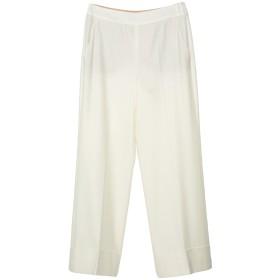 《送料無料》SLOWEAR レディース パンツ ホワイト 40 バージンウール 100%