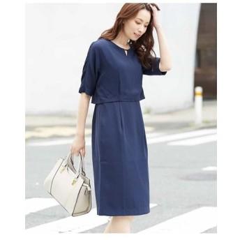 OFUON / メタルモチーフワンピースドレス