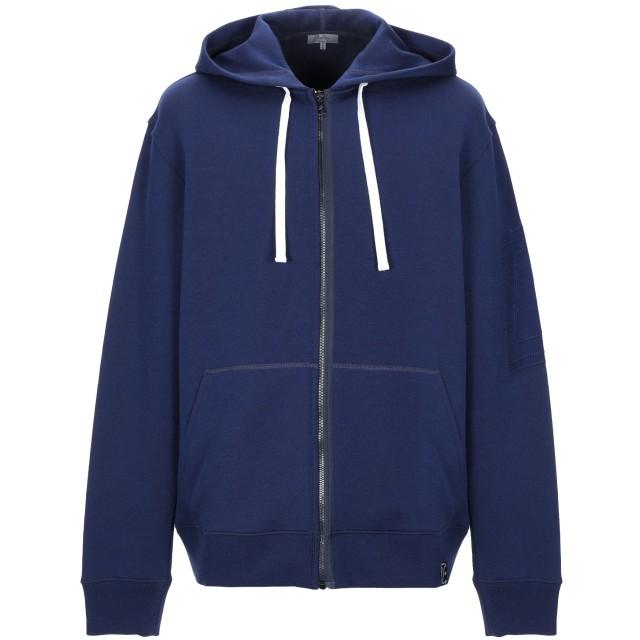 《期間限定 セール開催中》LANVIN メンズ スウェットシャツ ダークブルー XL バージンウール 69% / ナイロン 31% / ポリウレタン / レーヨン