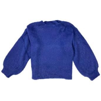 ニット・セーター - Select Shop Candy ボリューム袖 プチハイネック シャギーニット レディース ニット・セーター バルーンスリーブ ボリュームスリーブ