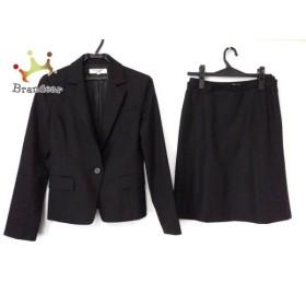 ナチュラルビューティー ベーシック スカートスーツ サイズS レディース 黒 肩パッド/ベルト付き   スペシャル特価 20190821