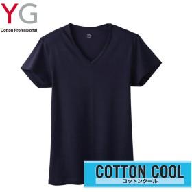 GUNZE グンゼ YG(ワイジー) 【COTTON COOL】VネックTシャツ(メンズ) ホワイト M