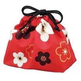 10%OFFクーポン対象商品 巾着袋 HAKOYA 朱華文様梅 クーポンコード:KZUZN2T