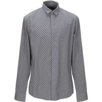《9/20まで! 限定セール開催中》ARMANI JEANS メンズ シャツ 鉛色 XXL コットン 100%