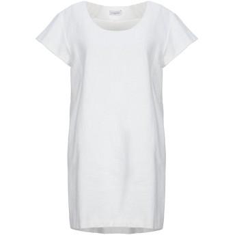 《セール開催中》CHIARA PERROT レディース ミニワンピース&ドレス ホワイト M コットン 100%
