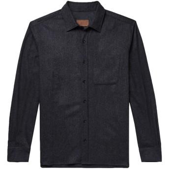 《期間限定セール開催中!》ALTEA メンズ シャツ ダークブルー XS バージンウール 90% / ナイロン 9% / ポリウレタン 1%