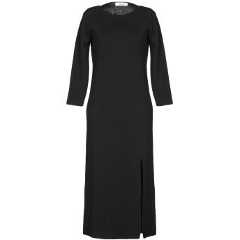 《セール開催中》JUCCA レディース 7分丈ワンピース・ドレス ブラック L バージンウール 100%