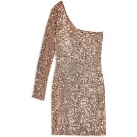 《9/20まで! 限定セール開催中》TOPSHOP レディース ミニワンピース&ドレス ローズピンク 10 ポリエステル 94% / ポリウレタン 6% SEQUIN ONE SLEEVE MINI DRESS