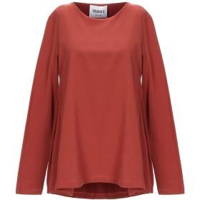 《期間限定セール開催中!》VICARIO 5 レディース スウェットシャツ 赤茶色 M コットン 90% / ポリウレタン 10%