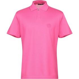 《期間限定セール開催中!》VERSACE メンズ ポロシャツ フューシャ S コットン 100%