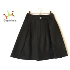 ナラカミーチェ NARACAMICIE スカート サイズ1 S レディース 美品 黒×シルバー 細ベルト   スペシャル特価 20190830