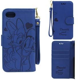 iphone8 iphone7 ケース ディズニー 手帳 かわいい 手帳型 アイフォン8 アイフォン7 ディズニー7 ドナルド デイジー スマホケース かわいい 耐衝撃 カード プレゼント 誕生日 (