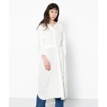 ロングシャツワンピース(7分袖)【お取り寄せ商品】