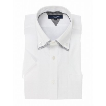 [マルイ] 形態安定スリムフィット2枚衿ドゥエボタンダウン半袖シャツ/タカキュー(TAKA-Q)