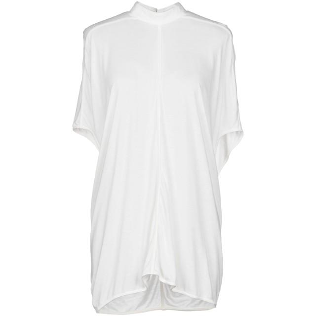 《期間限定セール開催中!》RICK OWENS LILIES レディース T シャツ ホワイト 42 レーヨン 70% / コットン 15% / ナイロン 15%