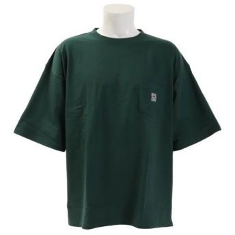 VISION 【オンライン特価】 胸ポケット付き 半袖BIGTシャツ 9523117-50DGR (Men's)