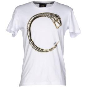 《期間限定 セール開催中》CAVALLI CLASS メンズ T シャツ ホワイト S コットン 100%