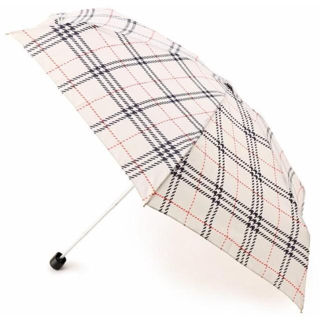 ITS' DEMO(イッツデモ) 晴雨兼用 チェック柄折り畳み傘