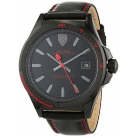 【当店1年保証】フェラーリFerrari Pilota Black Dial Men's Watch 0830497