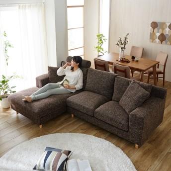 ゆったり座れるポケットコイル入りソファー専用ヘッドレスト