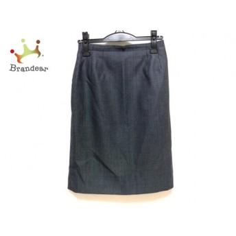ランバンコレクション スカート サイズ38 M レディース 美品 黒×ライトブルー スペシャル特価 20190819