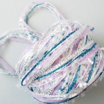 (2)A368「白馬のたてがみ(1)」素材糸 引き揃え糸