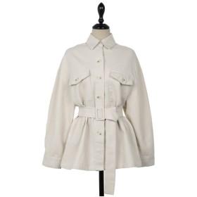 シャツ - NOWiSTYLE UPTOWNHOLIC(アップタウンホリック)ウエストマークジャケット韓国 韓国ファッション ジャケット ウエストマーク ポケットスプリングコート ビッグサイズ カジュアル ベルト付きレディース ファッション