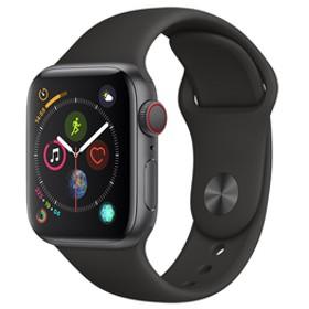 AppleApple Watch Series 4(GPS + Cellularモデル)- 40mmスペースグレイアルミニウムケースとブラックスポーツバンドMTVD2J/A