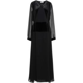 《期間限定 セール開催中》BLUGIRL BLUMARINE レディース ロングワンピース&ドレス ブラック 44 ポリエステル 100% / コットン