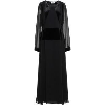 《9/20まで! 限定セール開催中》BLUGIRL BLUMARINE レディース ロングワンピース&ドレス ブラック 44 ポリエステル 100% / コットン