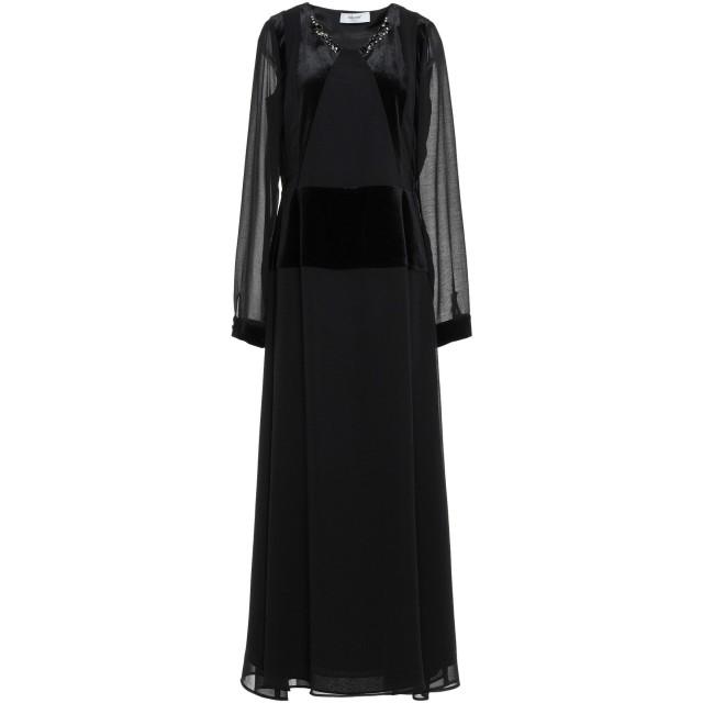 《期間限定セール開催中!》BLUGIRL BLUMARINE レディース ロングワンピース&ドレス ブラック 44 ポリエステル 100% / コットン