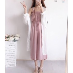 セットアップ カーデ キャミ ワンピース ピンク 黒 大人 夏物 秋物 最新 レディース ファッション2019 人気 可愛い 大人
