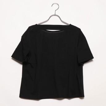 スタイルブロック STYLEBLOCK 二重地天竺バックドレープTシャツ (ブラック)