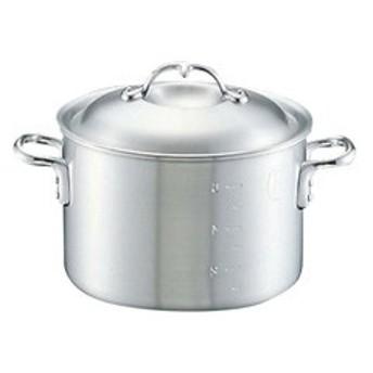 中尾アルミ製作所 NAKAO ARUMI SEISAKUSYO ニューキング アルミ 半寸胴鍋(目盛付) 15cm キッチン用品
