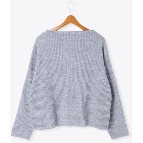 ニット・セーター - Lugnoncure リブ編みボトルネックプルオーバー