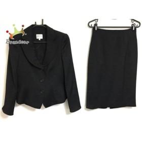 アルマーニコレッツォーニ ARMANICOLLEZIONI スカートスーツ サイズ40 M レディース 黒 ドット柄   スペシャル特価 20190719