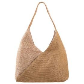 夏素材のくったりショルダーバッグ(でかポーチ付) - セシール ■カラー:ベージュ系