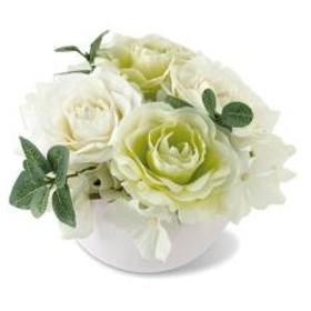 人工観葉植物 MIRABELLE ARTIFICIAL FLOWER M ホワイト