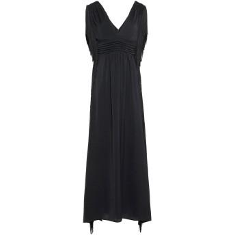 《セール開催中》ANNARITA N レディース ロングワンピース&ドレス ブラック 40 ポリエステル 100%