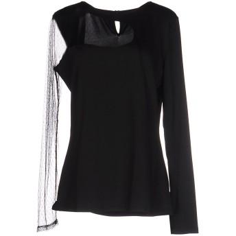 《期間限定セール開催中!》GUESS BY MARCIANO レディース T シャツ ブラック 3 ポリエステル 97% / ポリウレタン 3% / ナイロン
