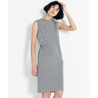 【SALE(伊勢丹)】【送料無料】<23区 大きいサイズ> 大きいサイズ TILE PRINT STRETCH ワンピース(OPWWKA0051) クロ【三越・伊勢丹/公式】
