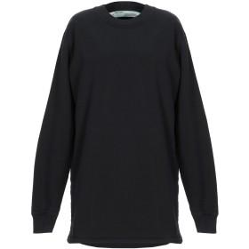 《期間限定セール開催中!》OFF-WHITE レディース スウェットシャツ ブラック XS コットン 100%