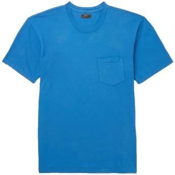 《9/20まで! 限定セール開催中》F.S.C. FREEMANS SPORTING CLUB メンズ T シャツ アジュールブルー XS コットン 100%