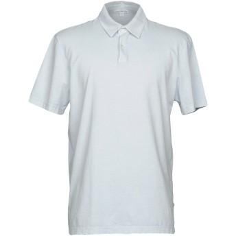 《セール開催中》JAMES PERSE メンズ ポロシャツ スカイブルー 5 スーピマ 100%