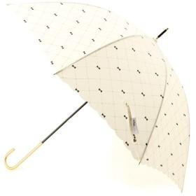 ITS' DEMO(イッツデモ) 晴雨兼用 リボンチェックスカラップ長傘